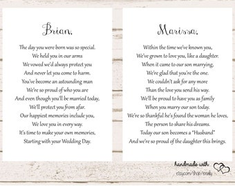 letters to the bride and groom on your wedding day son and daughter in law wedding wedding gift