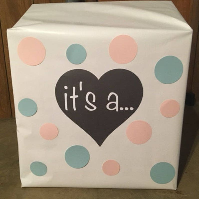 Balloon Box Gender Reveal Sign  it/'s a..