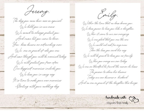 Wedding Day Letter To Bride.Letters To The Bride And Groom On Your Wedding Day Son And Daughter In Law Wedding Wedding Gift