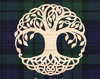 Tree of Life, Celtic style wall decor. Wedding gift, Housewarming gift, Anaversary gift, Irish gift for home, wood wall decor, Laser cut.