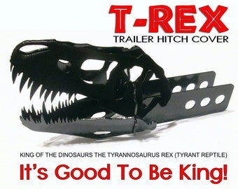 T-Rex Trailer Hitch Cover. Sure to be a conversation starter. Gift Idea.
