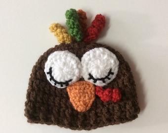 c4d1679256b Preemie Turkey Hat