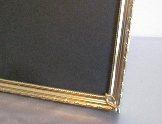 Vintage 8x10 Gold Metal Picture Photo Frame Pinterest Wedding Etsy