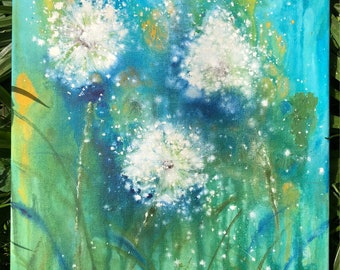 Dandelions, Dandelion field, Blowing in the Breeze