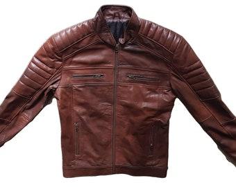 8a03201c9c2 Mens Lamb Skin Leather Jacket   Motorcycle Jacket   Bomber Jacket
