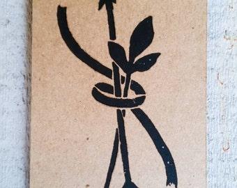 ARROW LEAF RIBBON bookmark