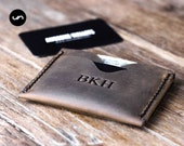 MINIMALIST SLEEVE WALLET, Minimalist Wallet for Men, Minimalist Wallet for Him, Minimalist Wallet for Her, Leather Minimalist Wallet, #061