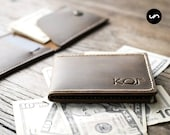 PERSONALIZED Flip Top Wallet - Ultra Slim Design Made for Minimalist Adventures - 025 - ONLY US Currency - Wallets By JooJoobs