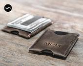 MINIMALIST MONEY CLIP Wallet, Money Clip, Slim Money Clip Wallet, Minimalist Front Pocket Sleeve Wallet, Personalized Money Clip #078