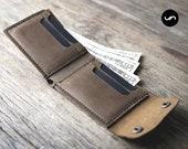 MENS LEATHER WALLET, Handmade Leather Wallet, Leather Wallet, Mens Wallets, Gifts for Men, Card Holder, Credit Card Holder, Groomsmen #035