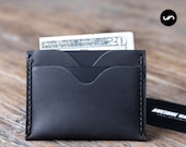 Slim Mens Wallet - The Inside Out Men's Leather Wallet - DARK Colored -- Minimalist Wallets - 061 - The Wallet of The Year