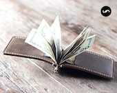 Leather Money Clip Wallet, PERSONALIZED Wallet, Money Clip Wallet, Personalized Wallet #018