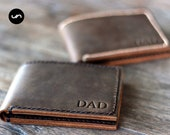 BIFOLD LEATHER WALLET, Personalized Wallet, Leather Credit Card Holder, Slim Leather Wallet, Minimalist Leather Wallet, Mens Leather Wallet