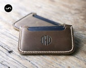 Front Pocket Wallet with Rounded Corners, Groomsmen Gift, Card Wallets, Slim Wallets for Him, Gift Ideas, Listing #039