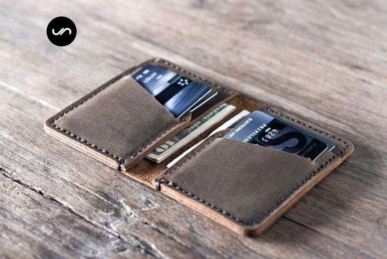 MENS LEATHER WALLET Leather Wallet Mens Wallet Personalized image 0