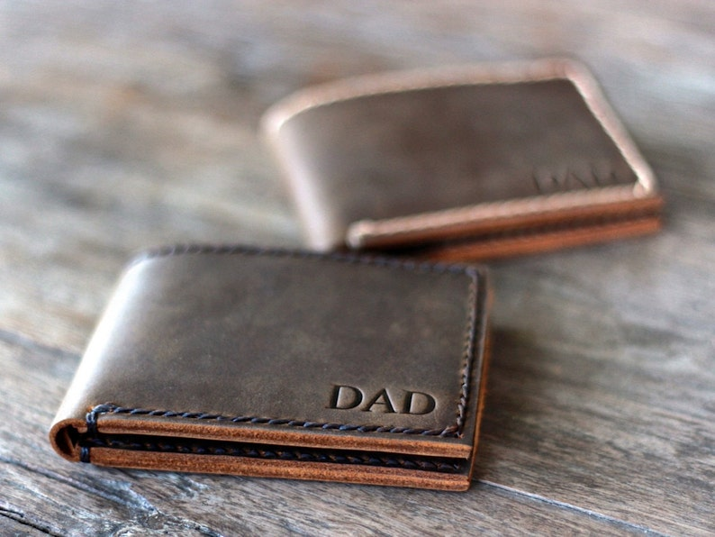 Wallets Mens Black Or Brown Leather Wallet Credit Card Holder Personalised Father Dad Uk Men's Accessories