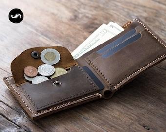 Mens Wallet with Coin Pocket, Mens Wallet, Mens Coin Pocket Wallet, Mens Wallets Leather, Euro Wallet, Mens Wallet with Coin Pocket #003