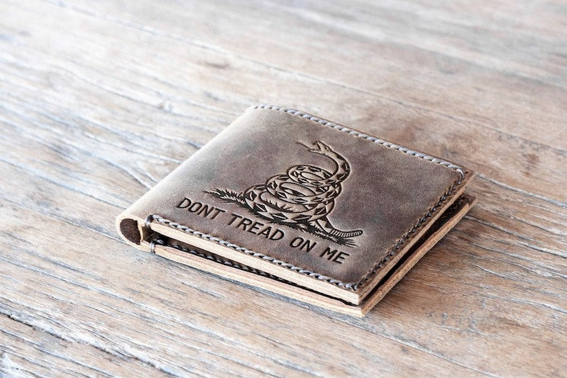 Dont Tread on Me Gadsden Flag Wallet image 0