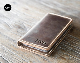 iPhone 12 Wallet Case, PERSONALIZED Leather iPhone Case, Leather iPhone Case, Gifts, Personalized iPhone -- PICK your iPhone below #055