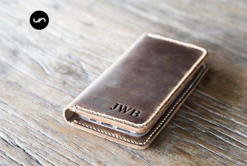 iPhone 11 Wallet Case PERSONALIZED Leather iPhone Case image 0