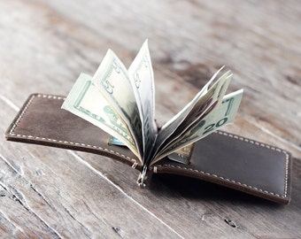 Leather Money Clip Wallet, PERSONALIZED Wallet, Money Clip Wallet, Personalized Wallet