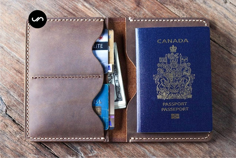PASSPORT WALLET Leather Travel Wallet Unique Gifts for Men image 0