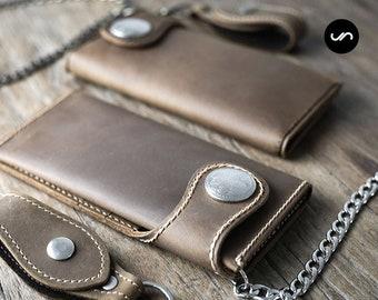 PERSONALIZED Biker Chain Wallet, Leather Biker Chain Wallet, Full Sized Biker Chain Wallet, PERSONALIZED Leather Biker Wallet  #012