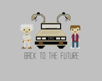 Cross Stitch Pattern - Back to the Future//Craft Supplies//PDF Pattern//Instant Download//Digital Download