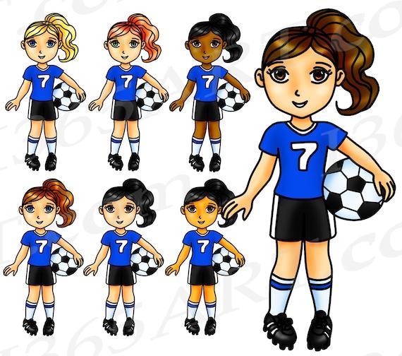 50 Rabatt Auf Fussball Clipart Fussball Madchen Sport Clipart Team Blau Wm Olympiade Fussball Nationalmannschaft Sticker African American
