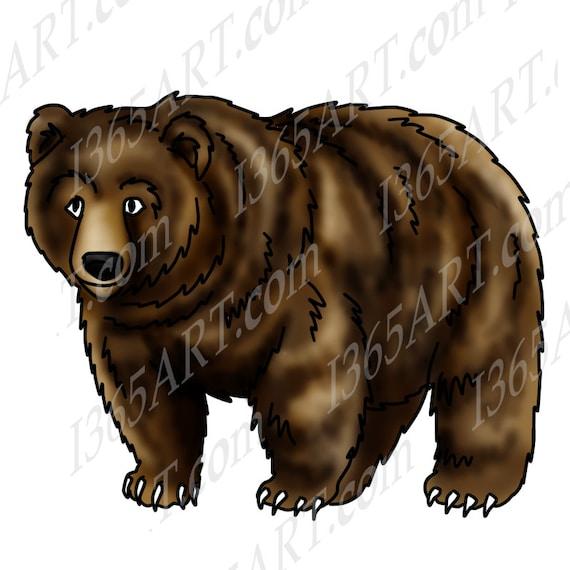 Grizzly Bear Clipart Bear Clip Art Wildlife Clipart Bear Etsy