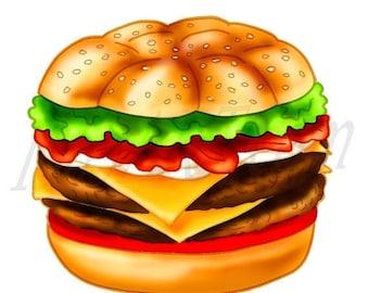 50% OFF Burger clipart, burger Clip art, Cheeseburger clipart, Hamburger Clipart, Junk Food, Fast Food, Scrapbooking, PNG, Commercial