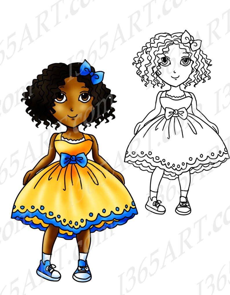 50% di sconto afroamericano Clipart ragazza nera timbro  415511fcad3