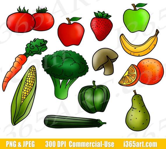 Buy 3 Get 1 Free Fruits And Vegetables Clipart Fruit Clip Art Vegetable Clip Art Digital Graphics Food Groups Printable Png Commercial By I 365 Art Catch My Party