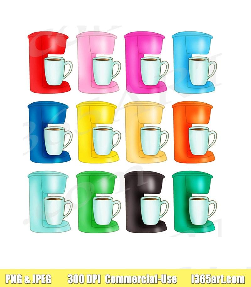 50% OFF Coffee Maker Clipart Coffee Maker Clip art Latte ...