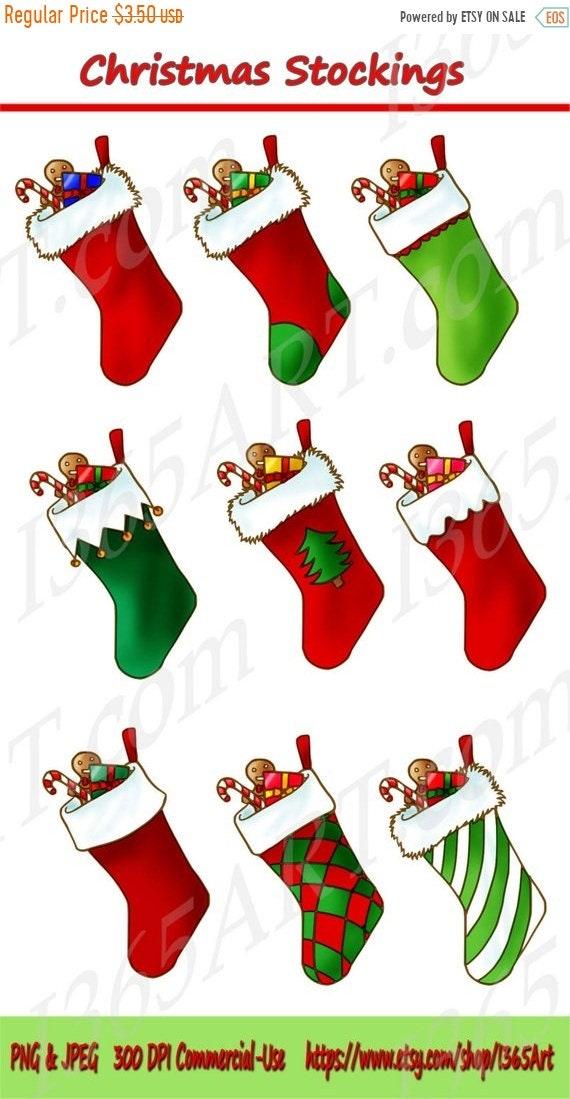 50 % Rabatt auf Weihnachts-Strumpf Clipart ClipArt zum | Etsy