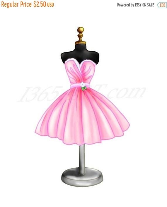 Pink Dress Clip Art