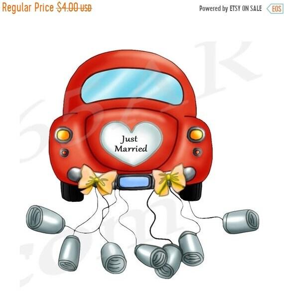 50 off just married car clipart clip art wedding car etsy rh etsy com Honeymoon Airplane Funny Honeymoon Quotes