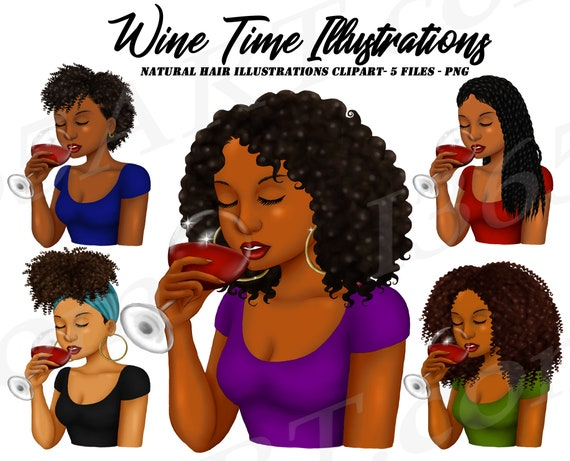 Black women hairstyles. Black women faces with different hair styles.  cartoon african girls with natural hairstyles and