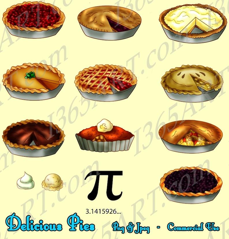 Buy 3 get 1 Free Pie Clipart Pie clip art food clipart image 0