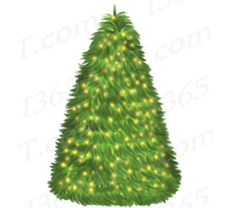 50 Off Watercolor Christmas Tree Clipart Christmas Tree Clip Etsy