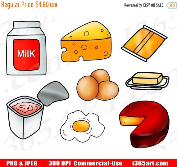50 off dairy clipart dairy food clip art food groups rh etsy com daily clipart dairy clipart free