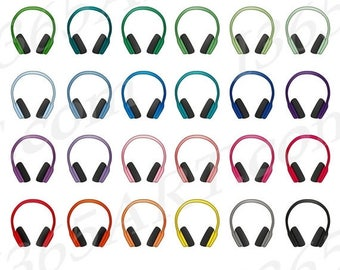 50% OFF Headphones Clipart, Headphones Clip Art, Earphones, Headphones, Head Phones, Headset Clipart, Planner Stickers, PNG Commercial