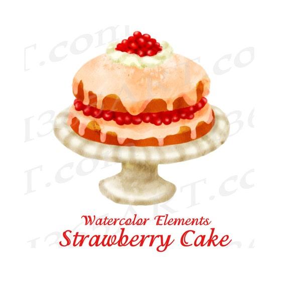 50 Rabatt Auf Aquarell Kuchen Clipart Clipart Zum Kuchen Etsy