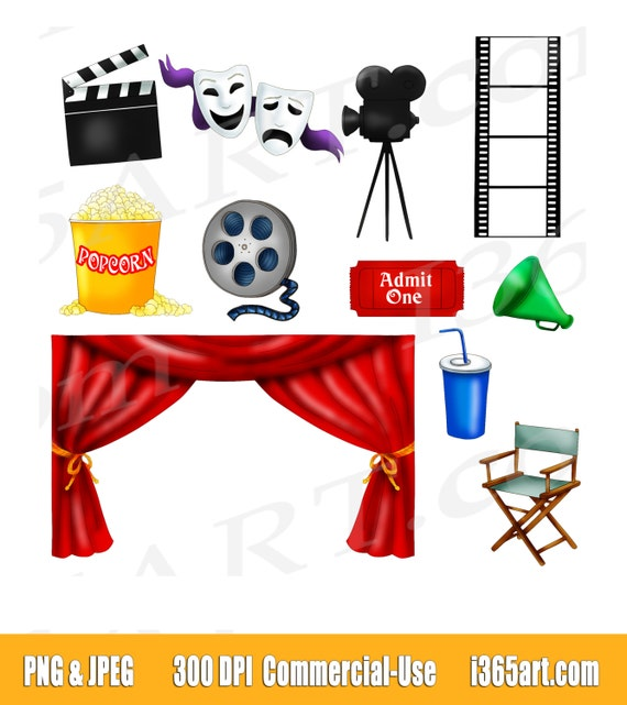 Buy 3 Get 1 Free Movie Clipart Clip Art Movie Theater Clipart Movie Night Clip Art Cinema Scrapbooking Invitation Movie Reel Graphics By I 365 Art Catch My Party
