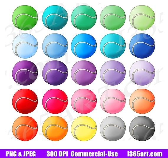 50 Off Tennis Balls Clipart Sports Clip Art Tennis Ball Etsy