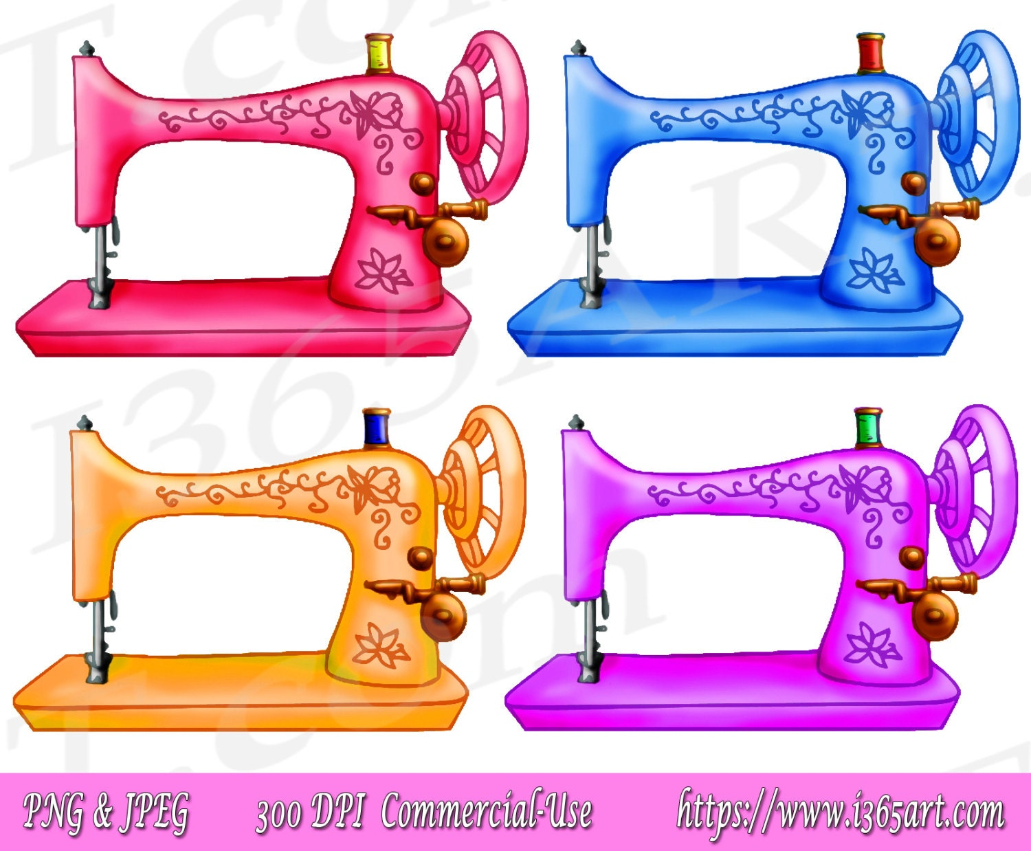 50% OFF Sewing Machine Clipart Sewing Machine Clip art | Etsy