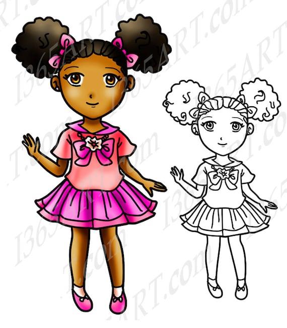 Girl afro clipart black Black Girls