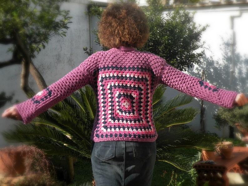 Maglione donna lavorato con mattonelle e quadrati della nonna etsy