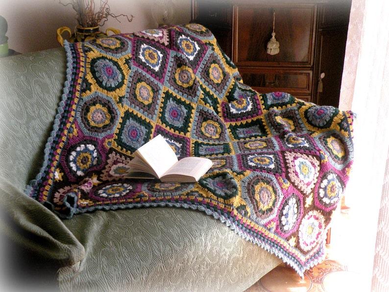 Coperta di lana con mattonelle della nonna plaid colorato etsy