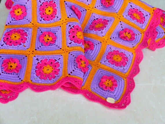 Copertina neonato plaid alluncinetto colori vivaci etsy